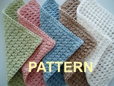 very easy crochet dishcloth patterns | Crochet Washcloth Patterns – Pattern Collections | best stuff