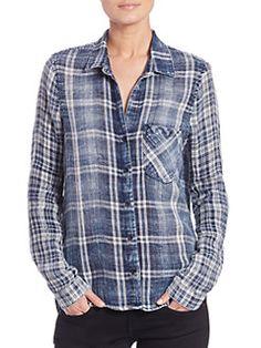 Bella Dahl - Plaid Button-Front Shirt