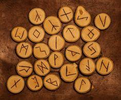 Elder Futhark Runes Hand crafted alphabet set in by RealPixels