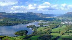 Derwentwater showing some of the islands