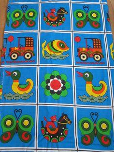 Dekoplus children's fabric - juvenile mod funky bright