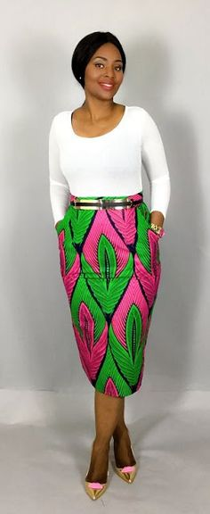 Online Hub For Fashion Beauty And Health: Beautiful Ankara Skirt On With Fitted Boby Top For...