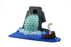 LEGO Micro-Scale waterfall and boat