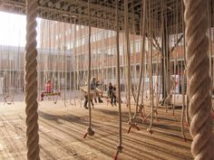 architecture with ropes Playground Design, Outdoor Playground, Temporary Architecture, Landscape Architecture, Architecture Diagrams, Architecture Portfolio, Urban Furniture, Street Furniture, Furniture Outlet