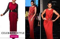 CELEBRITY STYLE: Wear Mughda Godse's style. Grab a similar gown from Azalea by Aditi Gupta on our website. Shop now: http://www.glitstreet.com/cocktail-gown-designed-by-azalea-by-aditi-gupta/