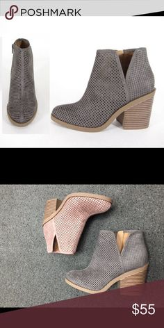 Adorable Gray Booties Gray Cutout Booties. Sorry, the mauve color is not available. Shoes Ankle Boots & Booties