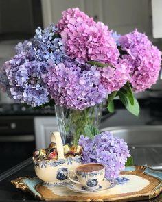 Floral Centerpieces, Floral Arrangements, Petal Pushers, Table Flowers, Trees To Plant, Hydrangea, Flower Power, Planting Flowers, Beautiful Flowers