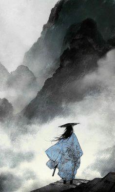 Satsuki ● More Asian Art @ > . Ibuki Satsuki ● More Asian Art @ > .Ibuki Satsuki ● More Asian Art @ > . Ibuki Satsuki ● More Asian Art @ > . Japanese Artwork, Japanese Painting, Japanese Prints, Chinese Painting, Chinese Art, Fantasy Kunst, Fantasy Art, Fantasy Books, Japon Illustration