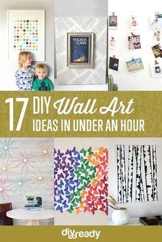 17 DIY Wall Art Ideas in Under an Hour