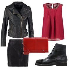 bfdf1caa4386 Ragazza rockeggiante  outfit donna Rock per scuola universit  e tutti i  giorni