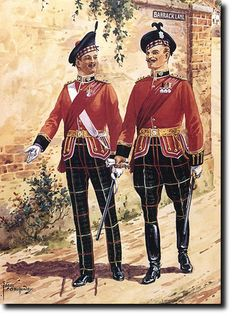 Officers of the The Royal Scots in full dress