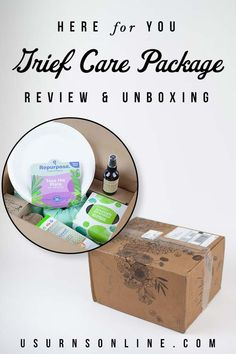 Unboxing and review of one of our favorite sympathy gifts, the Compassion Package from Here for You. This unique care package is filled with useful, practical items, beautifully packaged, and makes a truly thoughtful gift to send to someone who is grieving. Learn more about what's included here. #griefcare #carepackage #sympathygifts #griefcarebasket Memorial Urns, Funeral Memorial, Memorial Gifts, Funeral Etiquette, Funeral Urns, Funeral Arrangements, Grief Loss, Sympathy Gifts, Saving Ideas