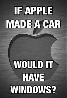 If Apple made a car...