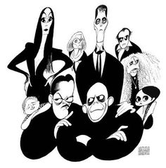 'adams family' by al hirschfeld