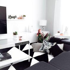 Back and white minimalist Nordic decor