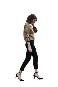 Woman walking cutout More