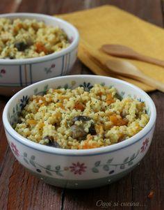 Miglio con funghi e zucca http://blog.giallozafferano.it/oggisicucina/miglio-con-funghi-e-zucca/
