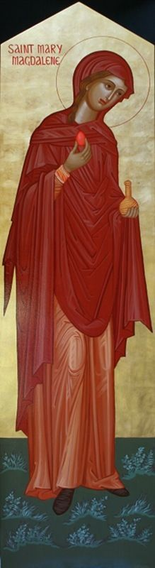 Saint Mary Magdalen loves much because she was forgiven much. There is no shame nor guilt when you truly embrace the loving forgiveness of God through the power of Christ's death and resurre… Religious Images, Religious Icons, Religious Art, Writing Icon, Maria Magdalena, St Clare's, Biblical Art, Sacred Feminine, Catholic Art