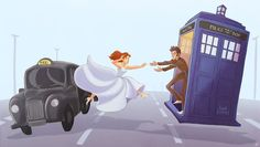 "The Runaway Bride ""I'M IN MY WEDDING DRESS!"" ""YES, YOU LOOK LOVELY! NOW COME ON!"