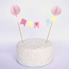 Free Printable Mini Cake Bunting – Feather Grey - Simply Stylish Party Supplies, Stationery & Gifts