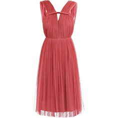 LANVIN Silk tulle Grecian dress ($1,421) ❤ liked on Polyvore featuring dresses, vestidos, short dresses, pink, raspberry, red silk dress, red wrap dress, pink tulle dress, red dress and silk wrap dress
