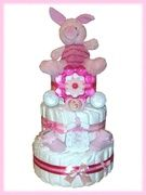 Piglet Nappy Cake - Labours of Love Baby Gifts - Baby Gift Baskets and Baby Hampers