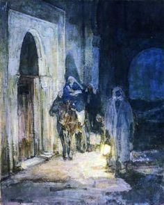 Henry Ossawa Tanner, Flight into Egypt, 1923, oil on canvas, Private Collection