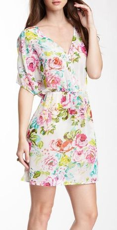 Love Stitch Sheer Floral Dress