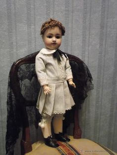 Antigua muñeco SIMON & HALBIG 570 antique bisque doll