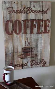 Beyond The Picket Fence: Need Coffee? Here's Your Sign!