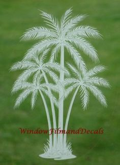 """Palm Tree Etched Window Decal Vinyl Glass Cling - 15"""" x 23"""" by VEI. $18.95. Non-adhesive static cling vinyl decal. Removable and reusable. The look of reach etched glass at a fraction of the cost. Easy to apply to any smooth glass or plastic surface. Can apply to mirrors, sliding glass doors, patio doors, windows, entrance doors, shower doors, RV windows, boat glass, etc.. Turn an unwanted view or plain glass into an elegant focal point that enhances the decor of your home... Sliding Door Design, Sliding Glass Door, Glass Doors, Old Door Decor, Diy Door, Rv Windows, Windows And Doors, Old Door Projects, Diy Projects"""