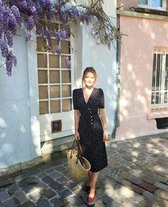 Vestido midi floral dark @whowhatwear