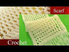 Bufanda a Crochet  en punto 3D panal o nido de abeja tejido tallermanualperu - YouTube