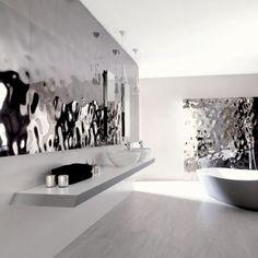 Contemporary silver and white Bathroom Design by Porcelanosa Modern Bathroom, Bathroom Decor, Tiles, Beautiful Bathrooms, Tile Bathroom, Contemporary Bathroom Designs, Wall Tiles, Kitchen And Bath, Contemporary Bathroom