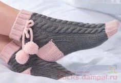 Free Knitting Pattern And Class For Easy - maallure Baby Hats Knitting, Baby Knitting Patterns, Knitting Socks, Knitting Designs, Hand Knitting, Knitted Slippers, Crochet Slippers, Knitted Gloves, Mode Crochet