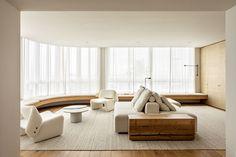 Apartamento Leblon is a minimal apartment located in Rio de Janeiro, Brazil, designed by Felipe Hess Living Area, Living Spaces, Living Room, H Design, House Design, Design Ideas, Studio Arthur Casas, Minimal Apartment, Sala Grande