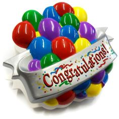 Acme Magnetic Congradulations Clip With Balloons Makes Sound - Item #IA4L-M92998 Acme International Enterprises Inc