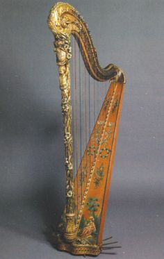 Marie-Antoinette's Harp  music was her passion and she had great talent. She could read music, sing and play the clavichord. The harp was her favorite instrument and her teacher was the gifted Philippe Joseph Hinner.