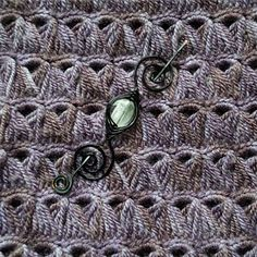 Quadrilateral a Broomstick Lace Shawl