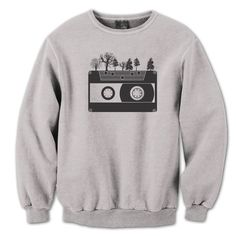 CASSETTE TAPE TREES - cool awsome hip funny geek nerdy party retro music new  -  Mens Sweat-shirt dt0376 by LaughWear on Etsy https://www.etsy.com/listing/199922430/cassette-tape-trees-cool-awsome-hip
