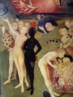 thebeginwith:    detail from The Garden of Earthly Delights, by Hieronymous Bosch  via upload.wikimedia.org