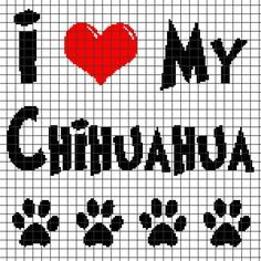 I Love My Chihuahua - Crochet Pattern (Chart/Graph AND Row-by-Row Written Instructions) - 04