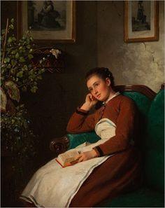 Johann Georg Meyer von Bremen (1813-1880), Sitting girl