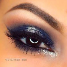 Blue and silver look