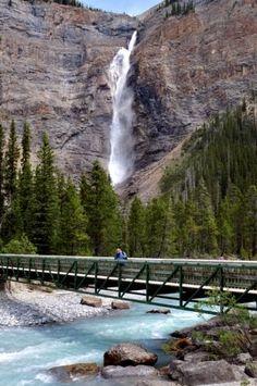 Takakkaw Falls in Canada - The Highest water fall in that country. Stunning! Yoho National Park, National Parks, Places To Travel, Places To See, Parque Natural, Alaska, Canadian Rockies, Beautiful Waterfalls, Canada Travel