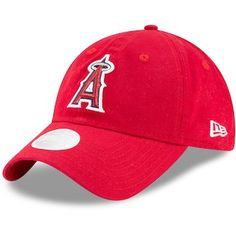 outlet store b1808 338a7 Los Angeles Angels New Era Women s Team Glisten 9TWENTY Adjustable Hat -  Red Red Team,
