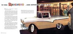 Learn more about the FORD Ranchero . Hard Worker That Loves To Play! at the hobbyDB database Vintage Cars, Antique Cars, Classic Pickup Trucks, Hard Workers, Car Ford, Ford Ranger, That's Love, Sport, Car Detailing