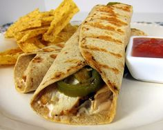 ThanksChicken popper wrap! Grilled chicken, cream cheese, salsa, jalapenos all in a tortilla. awesome pin