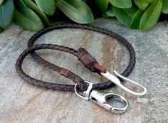 Mens Accessories - Mens Braided Leather Wallet Chain, Men Leather Lanyard, 925 Sterling Silver Handmade Hook, Groomsmen Gifts, Wedding Gifts Custom Leather Wallet Chain Men's Leather Wallet by Braceletshomme Leather Lanyard, Leather Keychain, Mens Leather Accessories, Men's Accessories, Leather Men, Custom Leather, Black Leather, Men's Jewelry Rings, Personalised Gifts For Him