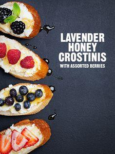 Lavender Honey Crostinis
